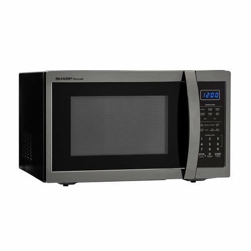 Sharp - 1.4 cu. ft. 1100W Sharp Black Stainless Steel Countertop Microwave Oven