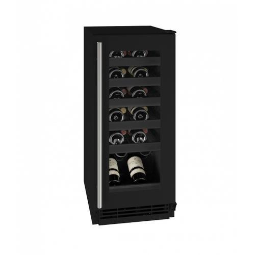 "U-Line - Hwc115 15"" Wine Refrigerator With Black Frame Finish (115v/60 Hz Volts /60 Hz Hz)"