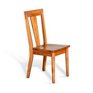 American Modern T-Back Chair, Wood Seat