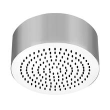 "Round SEGNI ceiling-mounted shower head 1/2"" connections Projection from ceiling 3-9/16"" Max flow rate 2"