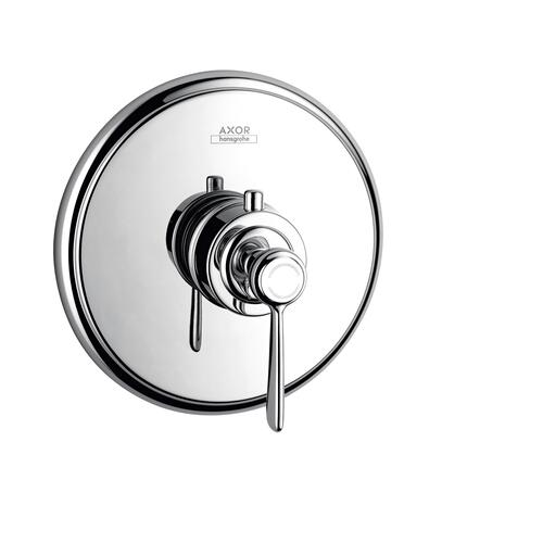 Polished Gold Optic Thermostat for concealed installation with lever handle