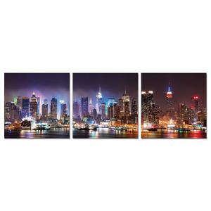 Gallery - Modrest NYC at Night 3-Panel Photo