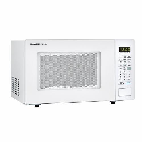 Sharp - 1.4 cu. ft. 1000W Sharp White Countertop Microwave Oven