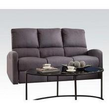 View Product - Gray Fabric Motion Sofa