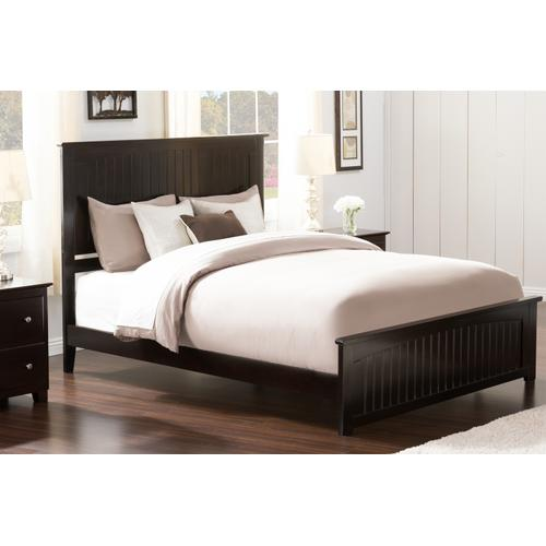 Nantucket Queen Bed with Matching Foot Board in Espresso