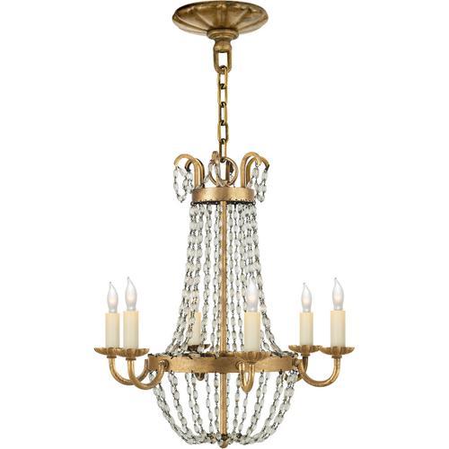 Visual Comfort - E F Chapman Paris Flea Market 6 Light 16 inch Gilded Iron Chandelier Ceiling Light