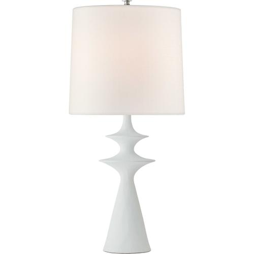AERIN Lakmos 31 inch 100 watt Plaster White Table Lamp Portable Light, Large