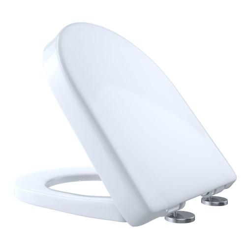 Slim D-Shaped SoftClose Toilet Seat - Cotton