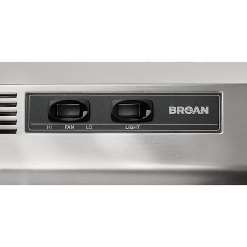 Broan® 30-Inch Ductless Under-Cabinet Range Hood w/ Easy Install System, Stainless Steel