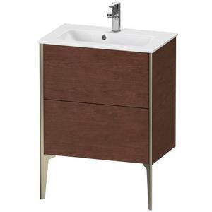 Vanity Unit Floorstanding Compact, American Walnut (real Wood Veneer)
