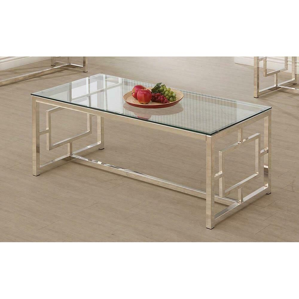 See Details - Occasional Contemporary Nickel Coffee Table