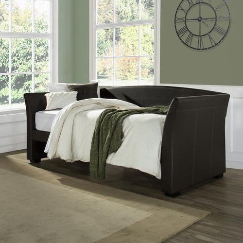 Montgomery Complete Twin-size Daybed, Brown Faux Leather