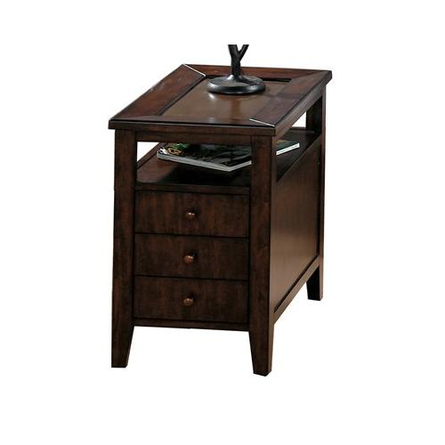 Chairside Table W/ 3 Drawers (assembled)