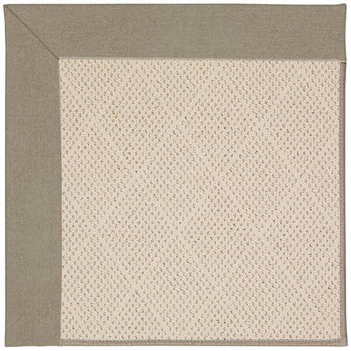 Creative Concepts-White Wicker Canvas Taupe Machine Tufted Rugs