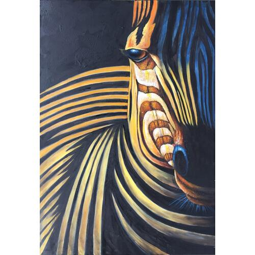 Gallery - Modrest ADC7197 - Modern Zebra Oil Painting