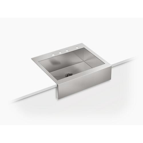 "29-3/4"" X 24-5/16"" X 9-5/16"" Self-trimming Top-mount Single-bowl Stainless Steel Apron-front Kitchen Sink for 30"" Cabinet"