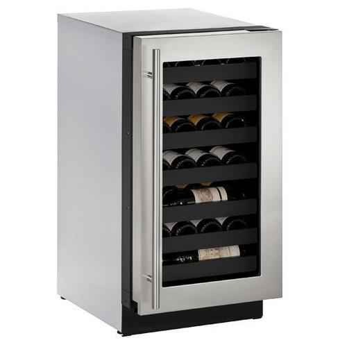 "18"" Wine Refrigerator With Stainless Frame Finish and Left-hand Hinge Door Swing (115 V/60 Hz Volts /60 Hz Hz)"