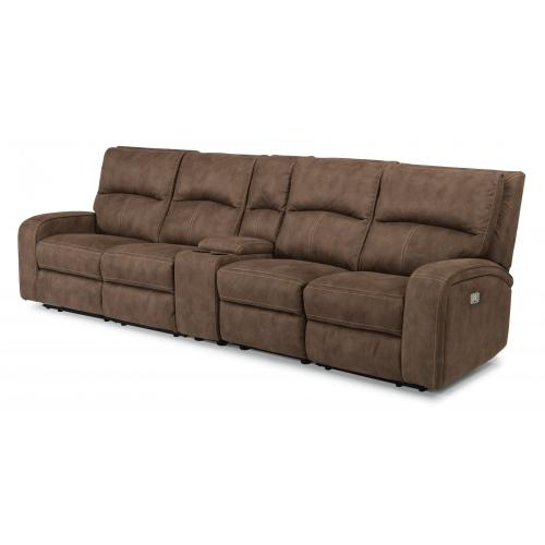 Rhapsody Power Reclining Sectional with Power Headrests