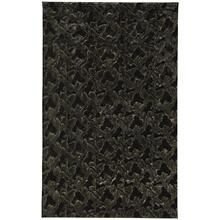 "Luxe Shag Artic Black - Rectangle - 24"" x 36"""