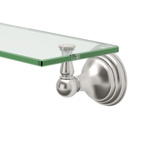 Charlotte Glass Shelf in Satin Nickel