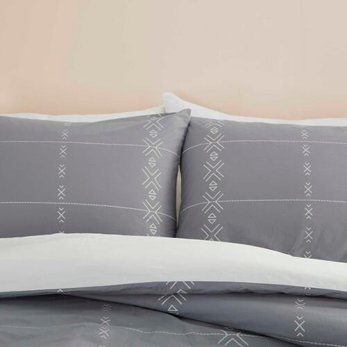 Dreamscape Dsc01 Grey Full/queen 3-piece Bed Set