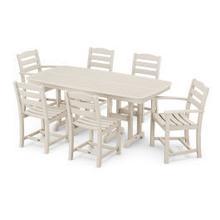 View Product - La Casa Cafu00e9 7-Piece Dining Set in Sand