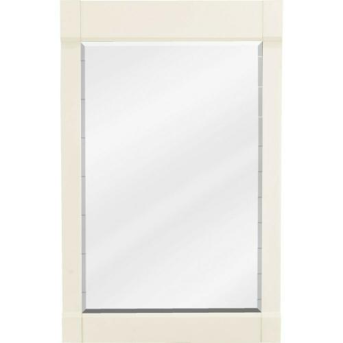 "22"" x 34"" Cream White mirror with beveled glass"