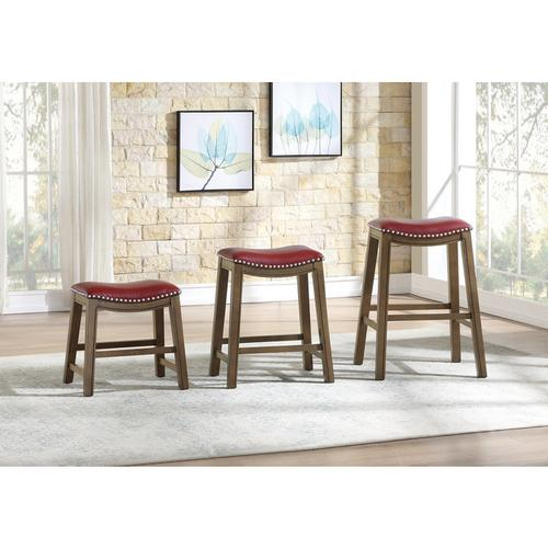 Gallery - 29 Pub Height Stool, Red
