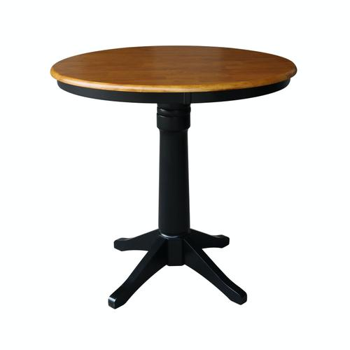 """Product Image - 36"""" Pedestal Table in Cherry / Black"""