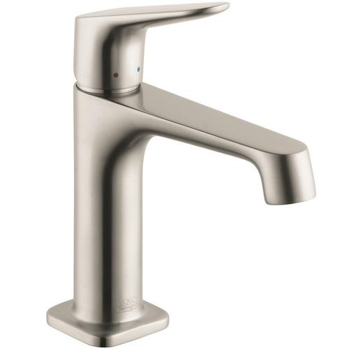 Brushed Nickel Single lever basin mixer 100 with pop-up waste set