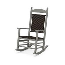 View Product - Jefferson Woven Rocking Chair in Slate Grey / Cahaba