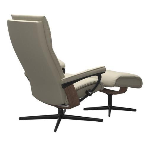 Stressless By Ekornes - Stressless® Aura (L) Cross Chair with Ottoman