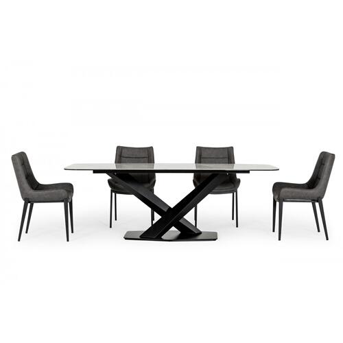 VIG Furniture - Modrest Espano - Modern White Ceramic Dining Table