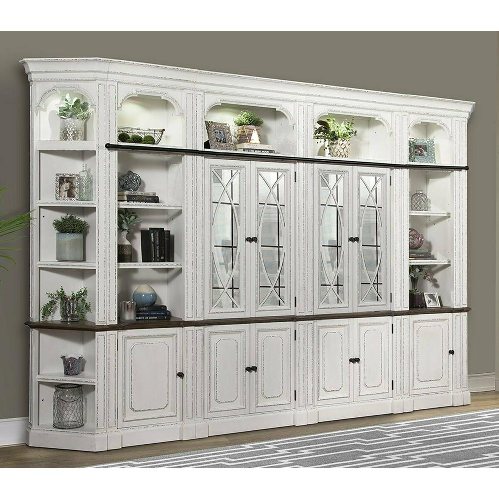 PROVENCE 6pc Glass Bookcase Library Wall