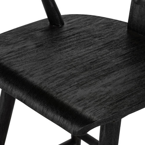 Bar Stool Size Matte Black Finish Cecelia Bar + Counter Stool