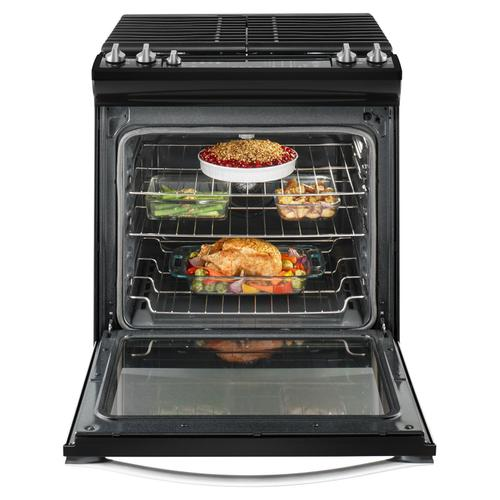 Whirlpool - 5.8 Cu. Ft. Slide-In Gas Range with EZ-2-Lift™ Hinged Grates Black Ice