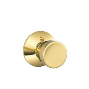 Bell Knob Non-turning Lock - Bright Brass Product Image