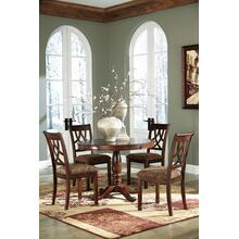 See Details - Leahlyn - Medium Brown Round Dining Table and 4 Chairs