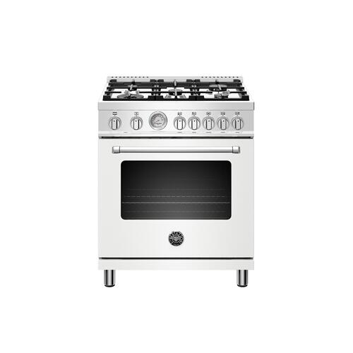 30 inch Dual Fuel, 5 Burners, Electric Oven Bianco Matt