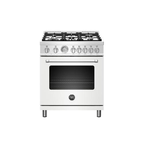 Product Image - 30 inch Dual Fuel, 5 Burners, Electric Oven Bianco Matt