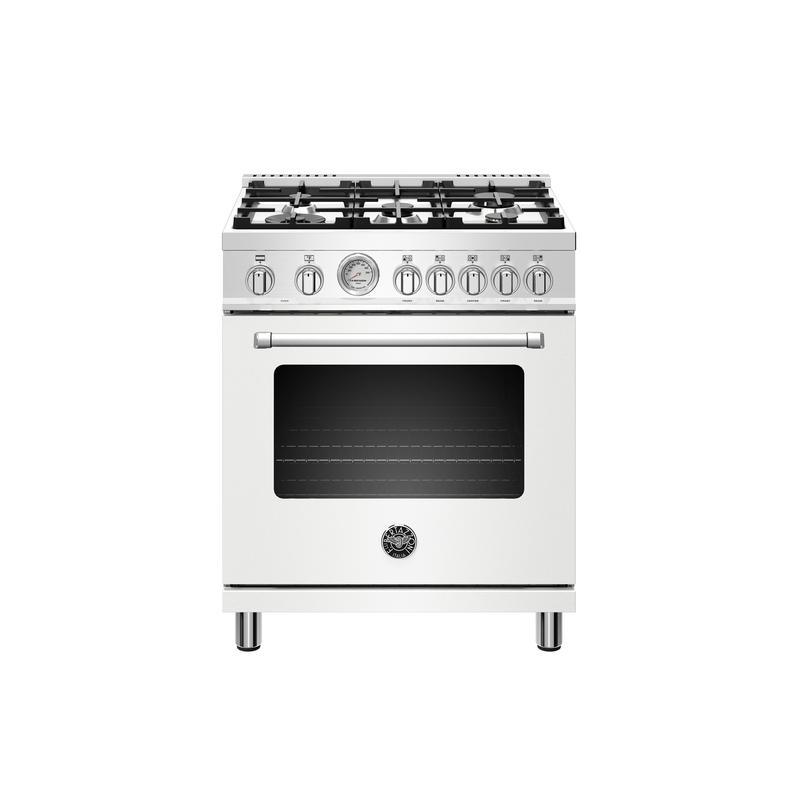 30 inch Dual Fuel, 5 Burners, Electric Oven Bianco Matt