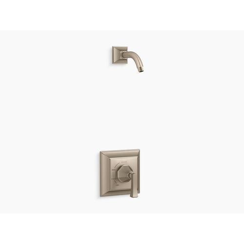 Kohler - Vibrant Brushed Bronze Rite-temp Shower Trim Set With Deco Lever Handle, Less Showerhead