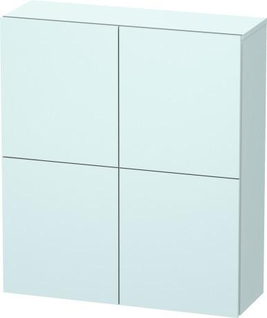 Semi-tall Cabinet, Light Blue Matte (decor)