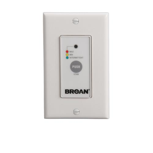 Broan® VT4W Off/Low/High Speed/Intermittent 20 min./hour Wall Control,