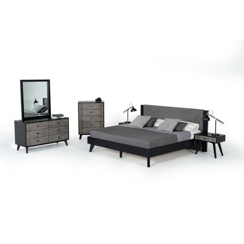 VIG Furniture - Nova Domus Panther Contemporary Grey & Black Chest
