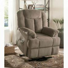 ACME Ixia Recliner w/Power Lift & Massage - 59275 - Light Brown Fabric