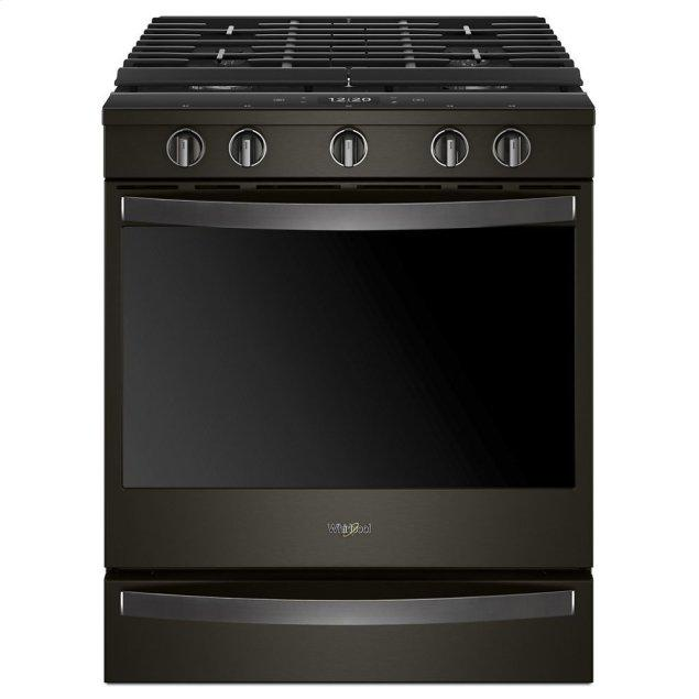 Whirlpool 5.8 cu. ft. Smart Slide-in Gas Range with EZ-2-Lift Hinged Cast-Iron Grates