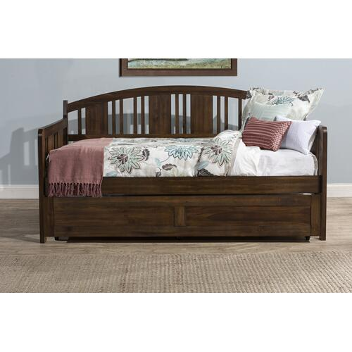 Dana Daybed With Trundle, Brushed Acacia