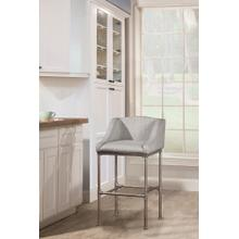 See Details - Dillon Stationary Counter Height Stool -textured Silver