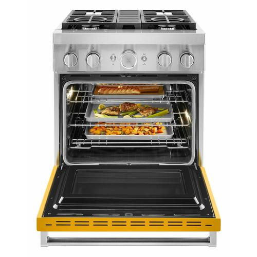 KitchenAid - KitchenAid® 30'' Smart Commercial-Style Dual Fuel Range with 4 Burners - Yellow Pepper